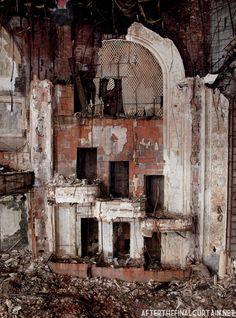 Remains of the box seats, Paramount Theatre Newark, NJ.
