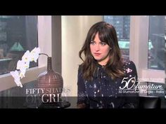 50 Sfumature di Grigio - Intervista Dakota Johnson!! I love Dakota here and the stand that she takes on domestic violence in the movie!! 50 Shades of Christian and Ana