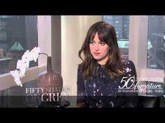 50 Sfumature di Grigio - Intervista Dakota Johnson!! I love Dakota here and the stand that she takes on domestic violence in the movie!! 50 Shades of Christian and Ana