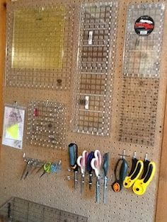 Great idea for organizing quilt rulers  StitchinByTheLake: No Wasted Space
