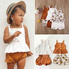 Summer Baby, Summer Girls, Kids Girls, Summer Pants Outfits, Kids Outfits, Outfit Summer, Luxury Kids Clothes, Children Clothes, Flower Shorts