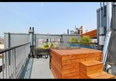 Allen Street Penthouse, New York, NY This four bedroom Manhattan condo comes with three terraces offering views of the city and a private roof deck with jacuzzi and self-irrigating garden. Cherry Floors, Room Screen, Barbie, Apt Ideas, Roof Deck, Condo Living, Jacuzzi, Rooftop, Real Estate