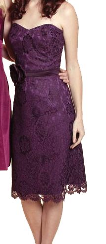 Plum bridesmaid dress from Watters&Watters. Favorite! | Garden ...