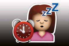 """El Emoji """"Son las 10 p.m. es más allá de mi hora de dormir"""":"""