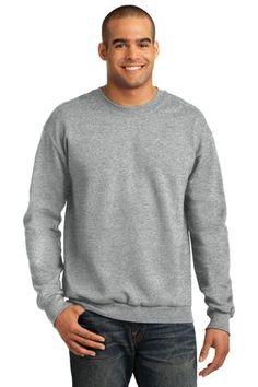 Buy the Anvil Crewneck Sweatshirt Style 71000 from SweatShirtStation.com, on sale now for $13.68 #crewneck #sweatshirt #giftfordad Heather Grey