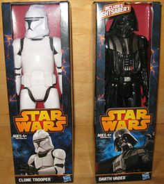 Darth Vader and Clone Trooper 12 inch Action Figures Star Wars