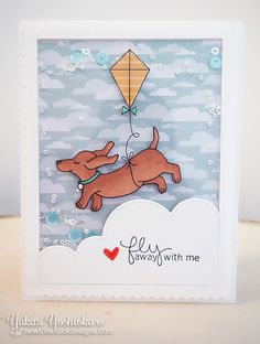 """Doxie Shaker Card by Handmade by Yuki 