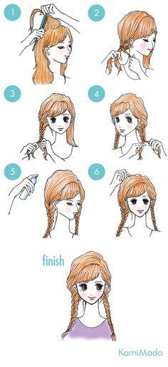 Tranças laterais são um charme. Esse tutorial mostra como fazer duas tranças laterais com a risca do cabelo de lado.
