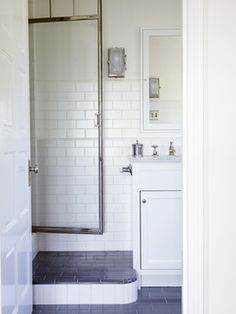 french normandy castle transitional bathroom los angeles tim barber ltd architecture - Transitional Castle Decorating