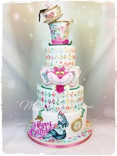 Alice in Wonderland cake by Cindy Sauvage