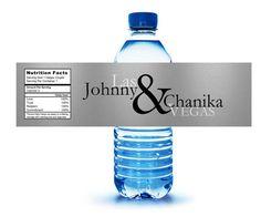 100 Vegas Sign Wedding Bachelorette Bachelor Birthday Party Water Bottle labels