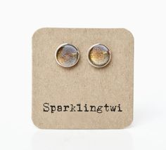 Hey, I found this really awesome Etsy listing at https://www.etsy.com/listing/192052415/gold-sparkle-stud-post-silver-earrings