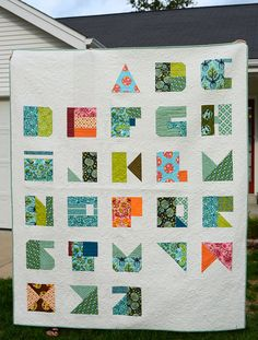 Modern Alphabet quilt, via Flickr.