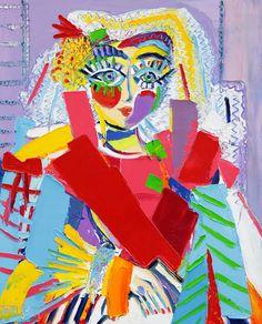 Louise - 100 x 81 cm - Huile sur toile