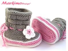 Baby Markimo - Baby Booties Rose
