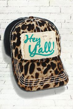 Leopard and Black Distressed Turquoise  Hey Y all!  Cap 64351dc40042