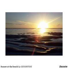 Postal Sunset at the beach