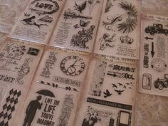 Tim Holtz Lot of 7 Clear Stamp Sets  Natures by tuesdaymarket, $31.00
