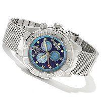 Invicta Men's Sea Wizard Limited Edition Quartz GMT & Alarm Bracelet Watch ShopNBC.com
