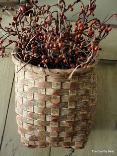 Primitive basket with pips.