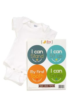 Lucy Darling Bodysuit & Stickers (Baby Boys) available at #Nordstrom
