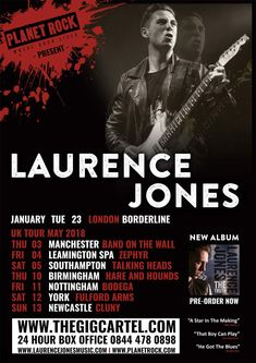 Laurence Jones. Photos copyright Christie Goodwin all rights reserved