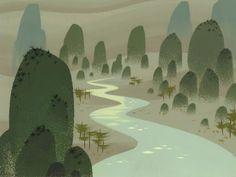 Samurai Jack background from episode 19