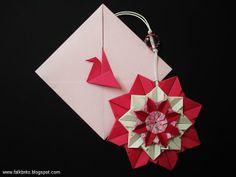 vania passos origami   Mandala de Origami criada por Falk Brito a partir de um envelope da ...