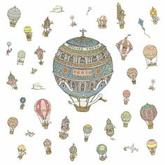 With this #airship #illustration Mattias Adolfsson (@mattiasink) has created one of the most fun looking drawings of hot air balloons and flying machines that I have come across. Mattias whimsical drawing style by itself makes his artwork lively and entertaining but combined with the lovely pastel colors the slightly askew angles of all the balloons hanging in the air and the fact that hot air balloons are just amusing and happy modes of transportation I believe these all place this drawing…