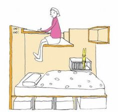 Japanese apartment takes the whole loft bed idea and flips it   DVICE