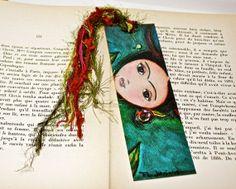 Frida Deer   Laminated Bookmark  Handmade  Original by FlorLarios, $8.00