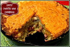 Sweet Tea and Cornbread: Cheesy Country Ham Cornbread!