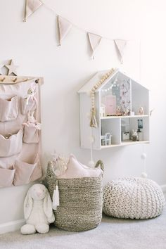 Toddler girl room with DIY ikea dollhouse Farmhouse Kids Rooms Ikea Dollhouse, Toddler Dollhouse, Dollhouse Furniture, Toddler Rooms, Kids Rooms, Girl Toddler Bedroom, Ikea Girls Room, Girl Kids Room, Toddler Room Decor