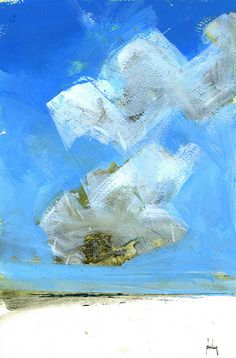 sky two-patrol ~ acrylic on paper ~ by paul bailey