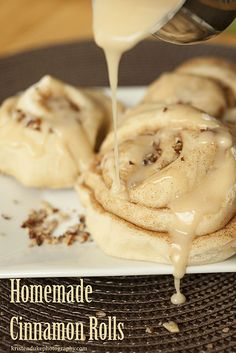 Nothing says fall like homemade cinnamon rolls. These look delicious!