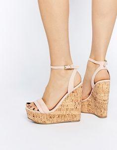 ASOS – TIME FLIES – Zweiteiliger Schuh mit Keilabsatz