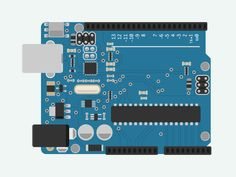 Arduino Uno Circuit Board ---- HEY HEY!!!  For more COOL ARDUINO stuff, check out http://arduinohq.com