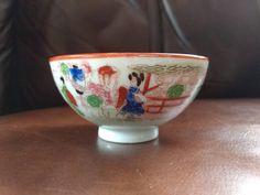 Vintage Japanese Geisha Girl Mini Bowl Ceramic Porcelain by AllTheRageVintageCA on Etsy