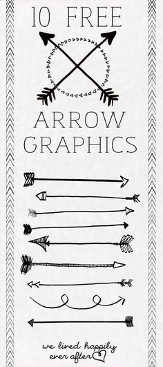 10 Free Arrow PNG Graphics - Thanks Tiffany!