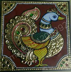 3d Art Painting, Canvas Painting Tutorials, Peacock Painting, Peacock Art, Indian Art Paintings, Fabric Painting, Mysore Painting, Madhubani Painting, Madhubani Art