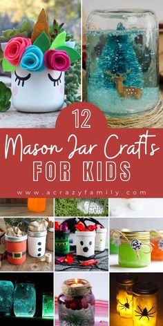 Mason Jar Art, Fall Mason Jars, Mason Jar Lanterns, Christmas Mason Jars, Mason Jar Gifts, Jam Jar Crafts, Holiday Crafts For Kids, Christmas Ideas, Toddler Crafts