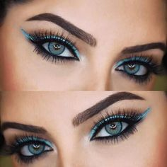 Once you master eyeliner application, your makeup routine will never be boring. But what if you get out of ideas? Discover many eyeliner styles here. Perfect Eyeliner, How To Apply Eyeliner, Winged Eyeliner, Eyeliner Pencil, Black Eyeliner, Dramatic Eye Makeup, Dramatic Eyes, Blue Eye Makeup, Lipsticks