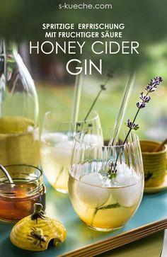 Honey Cider Gin Cocktail und best of Zillertal - Ananas Cocktail Tonic Cocktails, Cider Cocktails, Gin Cocktail Recipes, Healthy Cocktails, Drink Recipes, Coffee Milkshake, Vanilla Milkshake, Milk Shakes, Alcholic Drinks