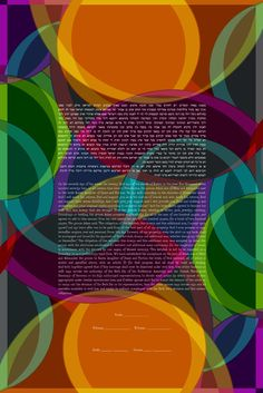 The Retro Slices Ketubah
