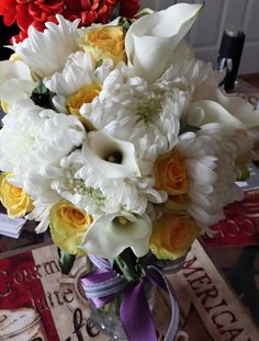 Wedding bouquet! Calla lilies signify magnificence and beauty. Catching your dreams. Just heavenly! by Jaime Tablas