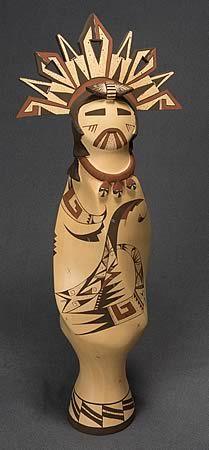 Clay Kachina Sculpture by Valerie Namoki, Hopi
