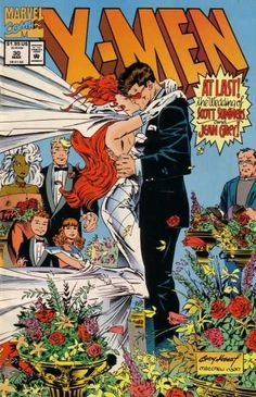 X-Men #30 - The Wedding (finally) of Scott Summers and Jean Grey.