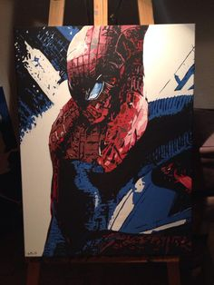 Spiderman acrylic