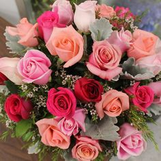 Think pink! October is Breast Cancer Awareness month. We're joining the fight by spreading awareness with pretty pink roses #SusanGKomen by centralsquareflorist October 01 2015 at 07:05PM