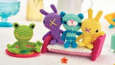 Cat and bed toys Crochet Pattern